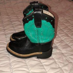 Baby girl boy western cowboy boots Old West sz 5